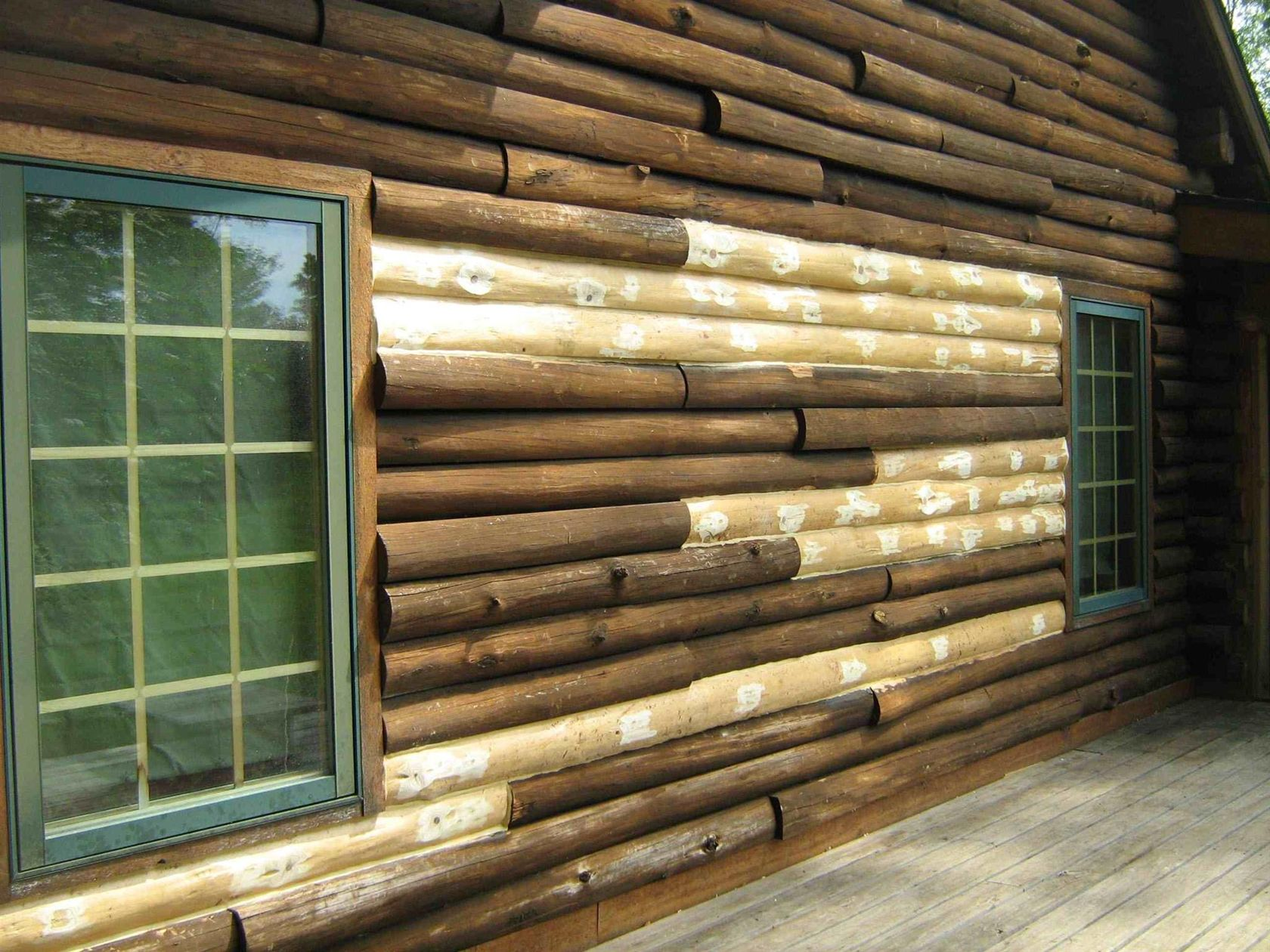 Kentucky log home restoration maintenance kentucky log for Log cabin restoration