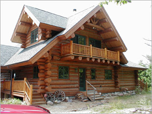 Log home repair restoration in nebraska log home for Log home cost estimator