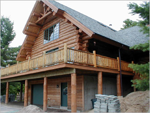 Log home repair restoration in pennsylvania log home for Log home cost estimator