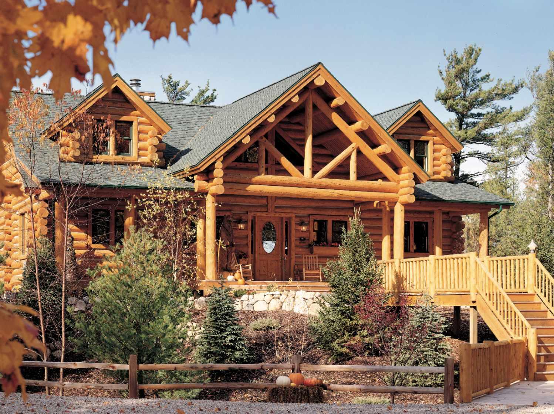 hybrid log homes half log siding log accents log home