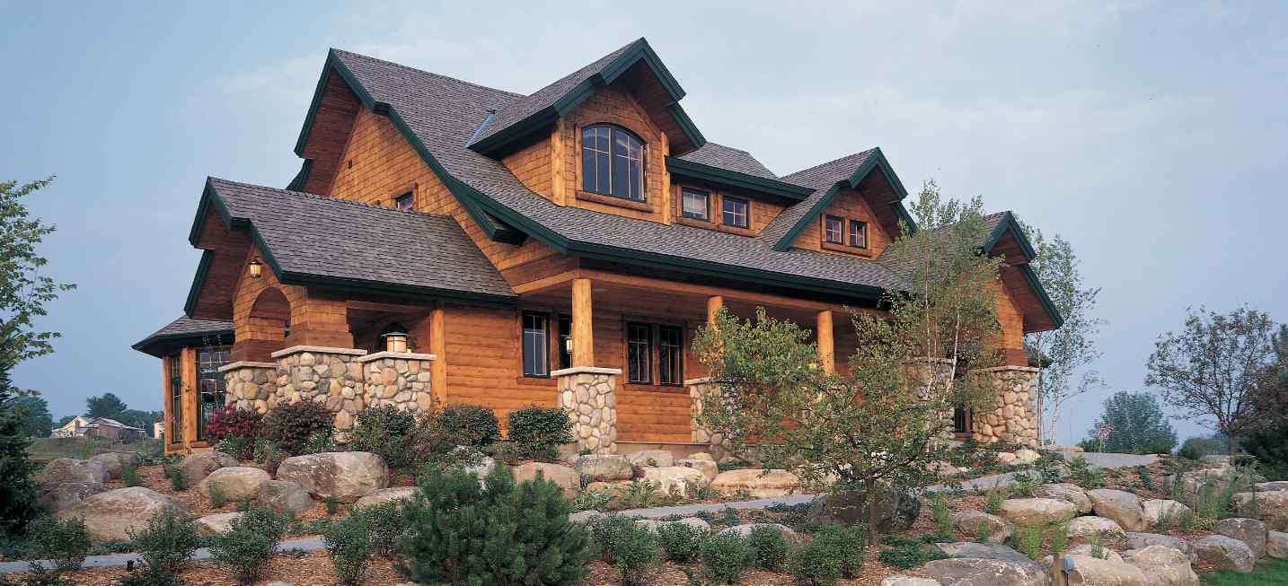 Hybrid Log Homes, Half Log Siding U0026 Log Accents