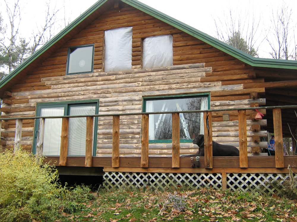 Log home repair and replacement gallery log home for Log cabin maintenance