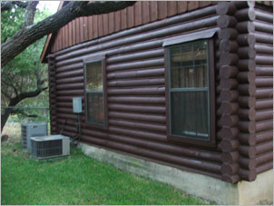 Log Home Repair Texas - Before