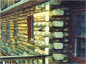 Log Home Repair - After